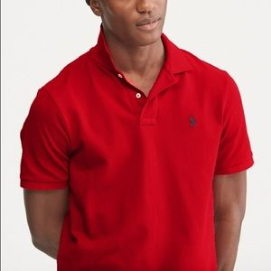 The Iconic Mesh Polo Red Shirt- L